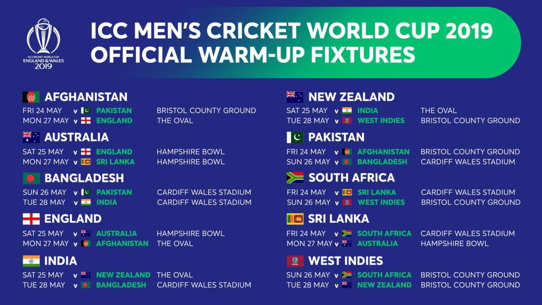 Icc world cup all matches date