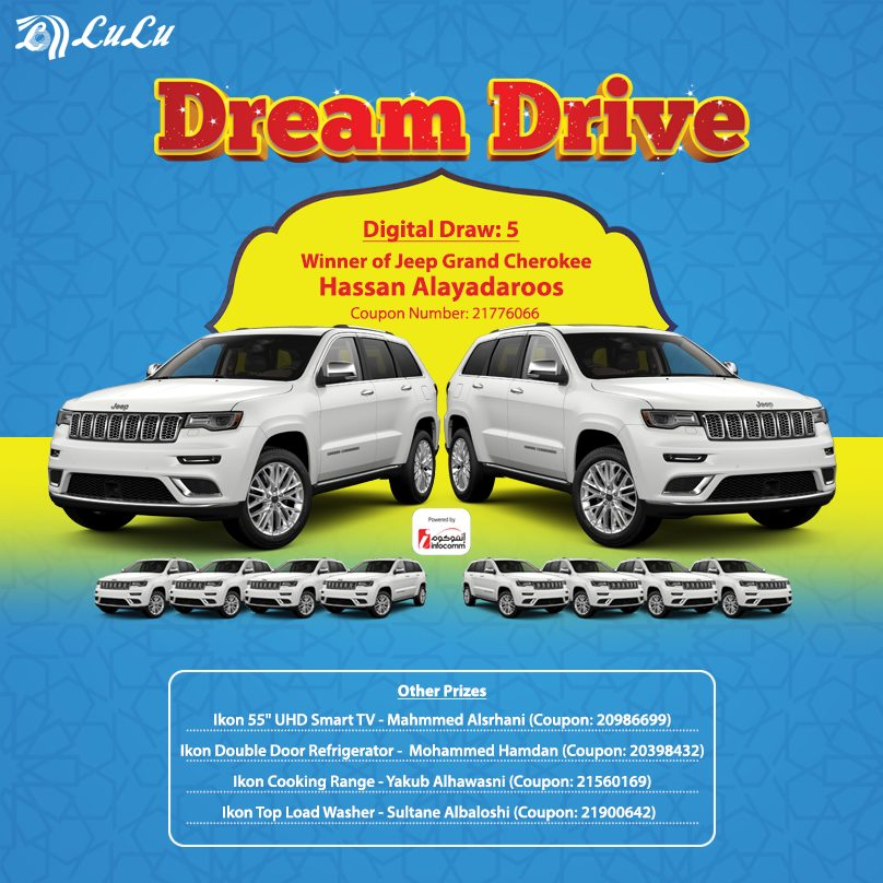 5th LuLu Oman Dream Drive 2019 Lucky Draw Winner 20 May 2019
