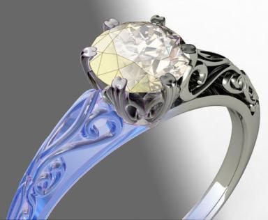 Design your own gemstone ring: A CAD example