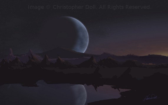Kepler. Close Planet. Image Copyright © Christopher Doll. All Rights Reserved.