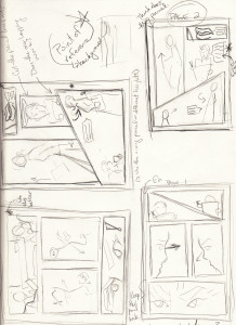 Two pages, multiple thumbs. Gotta play around with panels before going for it!