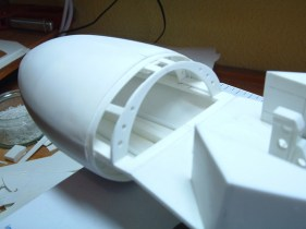 Attaching the nose cone