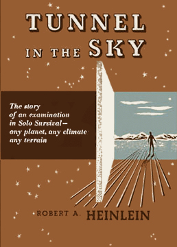 Figure 2 – Tunnel in the Sky original Scribner's cover by P.A. Hutchinson
