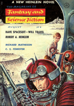 Figure 4 - Have Space Suit Will Travel F&SF Cover by Ed Emshwiller