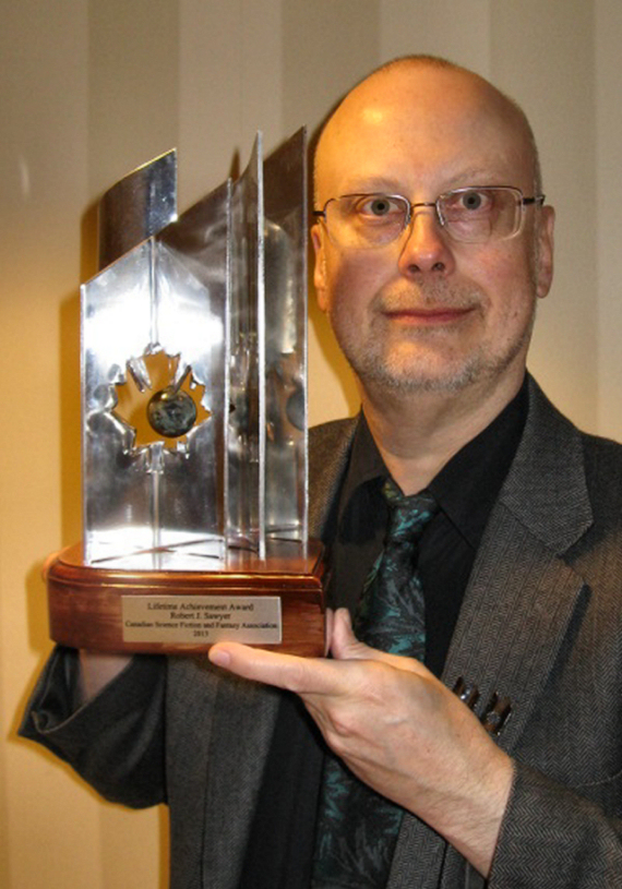 Figure 3 - Sawyer and Lifetime Achievement Aurora Award