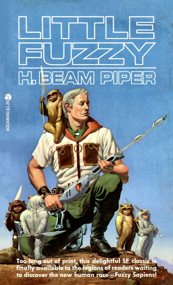 Figure 4 - H.Beam Piper's Little Fuzzy cover by Michael Whelan CENTER