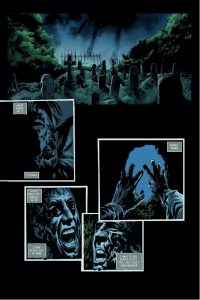 """""""The Death of Brian"""" Artwork by Helmut Racho Color by Harri Honkala Letters by Alex Giles"""