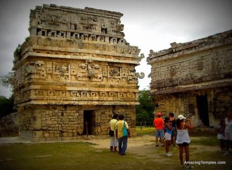 """""""La Iglesia"""" in the Las Monjas complex -Chichen Itza - Mayan Temples"""