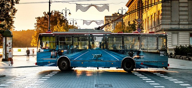 These Awesome Invisible Buses Appear To Vanish Because Of Their Brilliant Photorealistic Camouflage