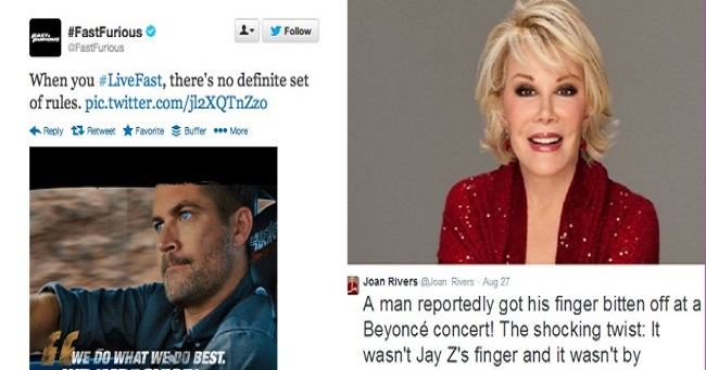 10 Famous last tweets of celebrities who tweeted just before they died