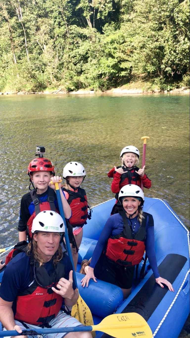 Family Rafting on the Pacuare