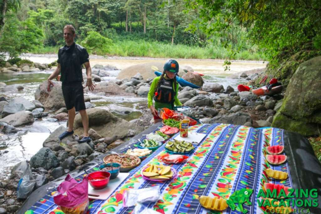 Lunch On RIver Costa Rica