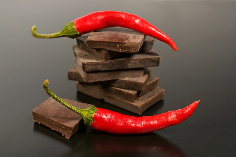 Black Chocolate With Red Hot Pepper
