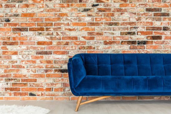 Blue Upholstered Sofa