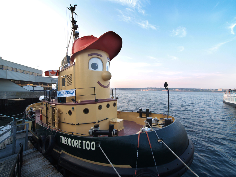 "A ""cartoon"" tugboat from a popular children's TV show."