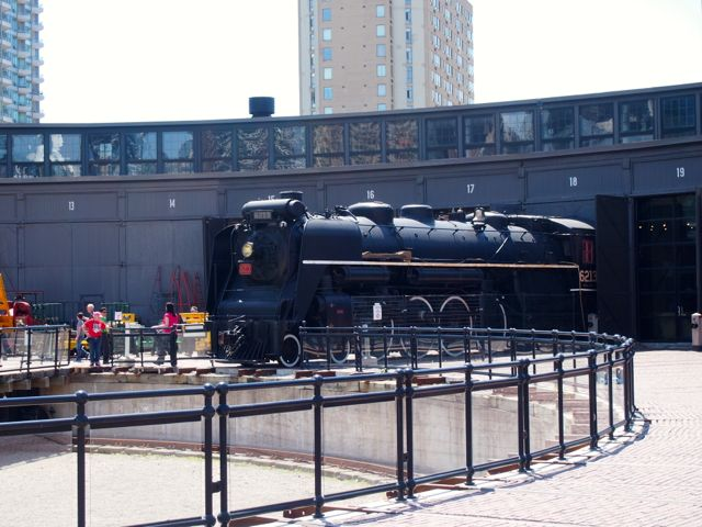 Train on display at the Toronto Railroad Museum