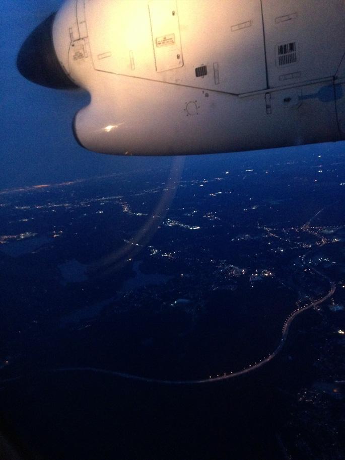 Propeller Plane at Night