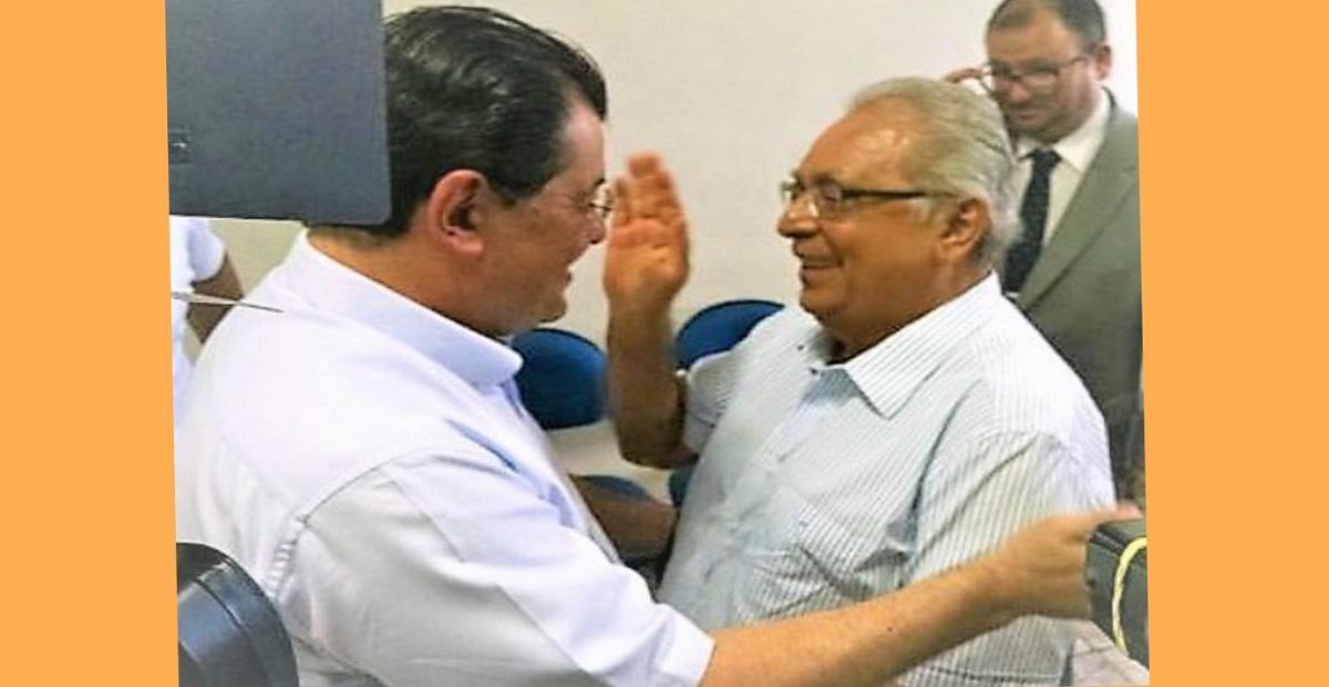 Resultado de imagem para imagens do ex-governador amazonino com o senador eduardo braga