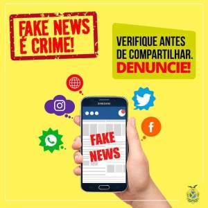 """Notícias Falsas  – """"Fake News"""" é crime"""