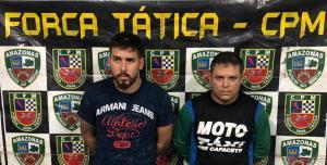 Homens são presos portando armas e munições no bairro Petrópolis, em Manaus