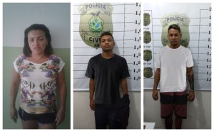 Polícias recuperam R$ 75 mil roubados de casa lotérica em Autazes e prendem trio envolvido no crime com 1 kg de drogas