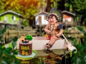 No interior do AM, bebê faz ensaio fotográfico com temática indígena e viraliza nas redes sociais