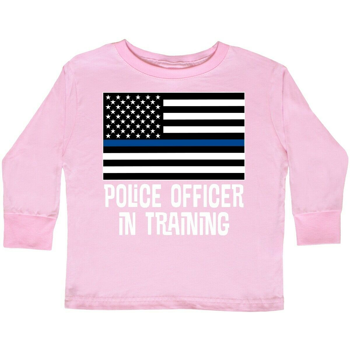 Kids Inktastic Police Officer In Training Toddler Long