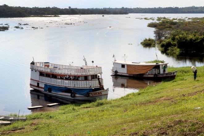 Vista do rio Andirá, na Terra Indígena Andirá Marau, em Barreirinha (Foto: Danilo Melo/FotoAmazonas)