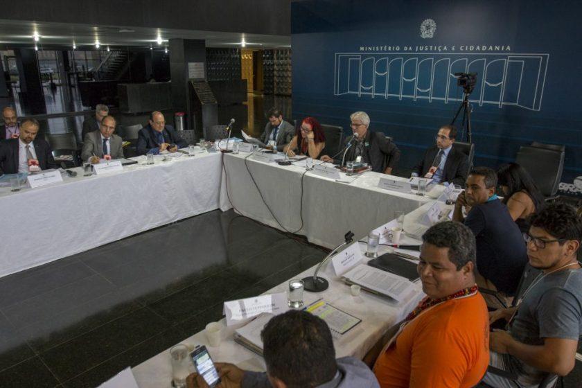 Reunião do Conselho Nacional de Política Indigenista (CNPI) em Brasília, no Ministério da Justiça (Foto: Ana Mendes/Amazônia Real)