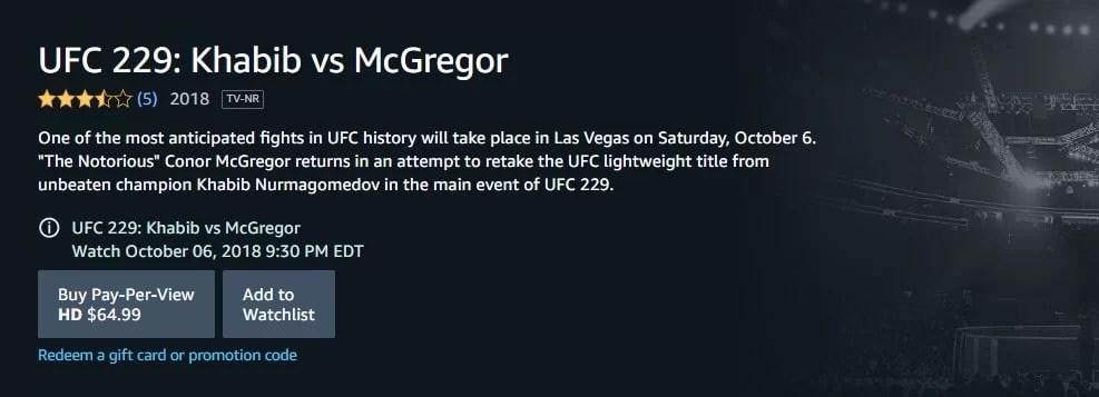 Khabib vs. Mcgregor online on October 6th