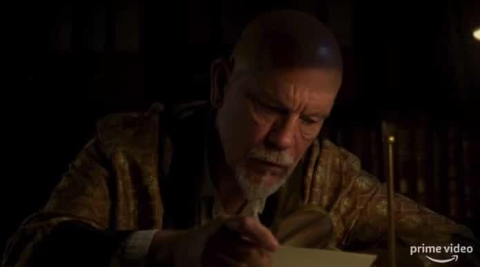 John Malkovich as Hercule Poirot in the ABC Murders on Amazon