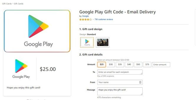 Buy a Google Play Gift Code on Netflix USA
