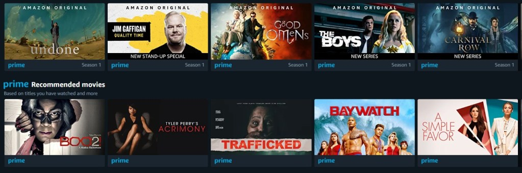 More than 105 million people have access to the Prime movies at Amazon.com