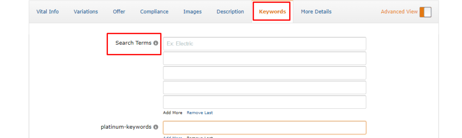 How to write search terms in an amazon listing