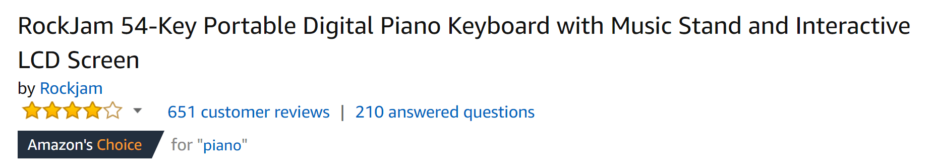 Keyboard with lots of reviews