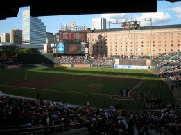 Visit beautiful Camden yards in the heart of Baltimore