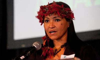 Sheyla Juruna, liderança indígena do Movimento Xingu Vivo para Sempre