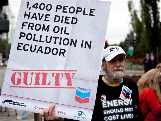 1,400 people have died from oil pollution in Ecuador