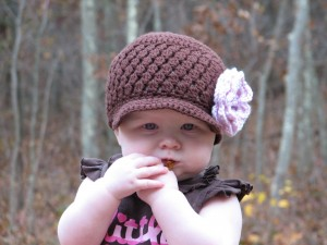 brown cluster hat
