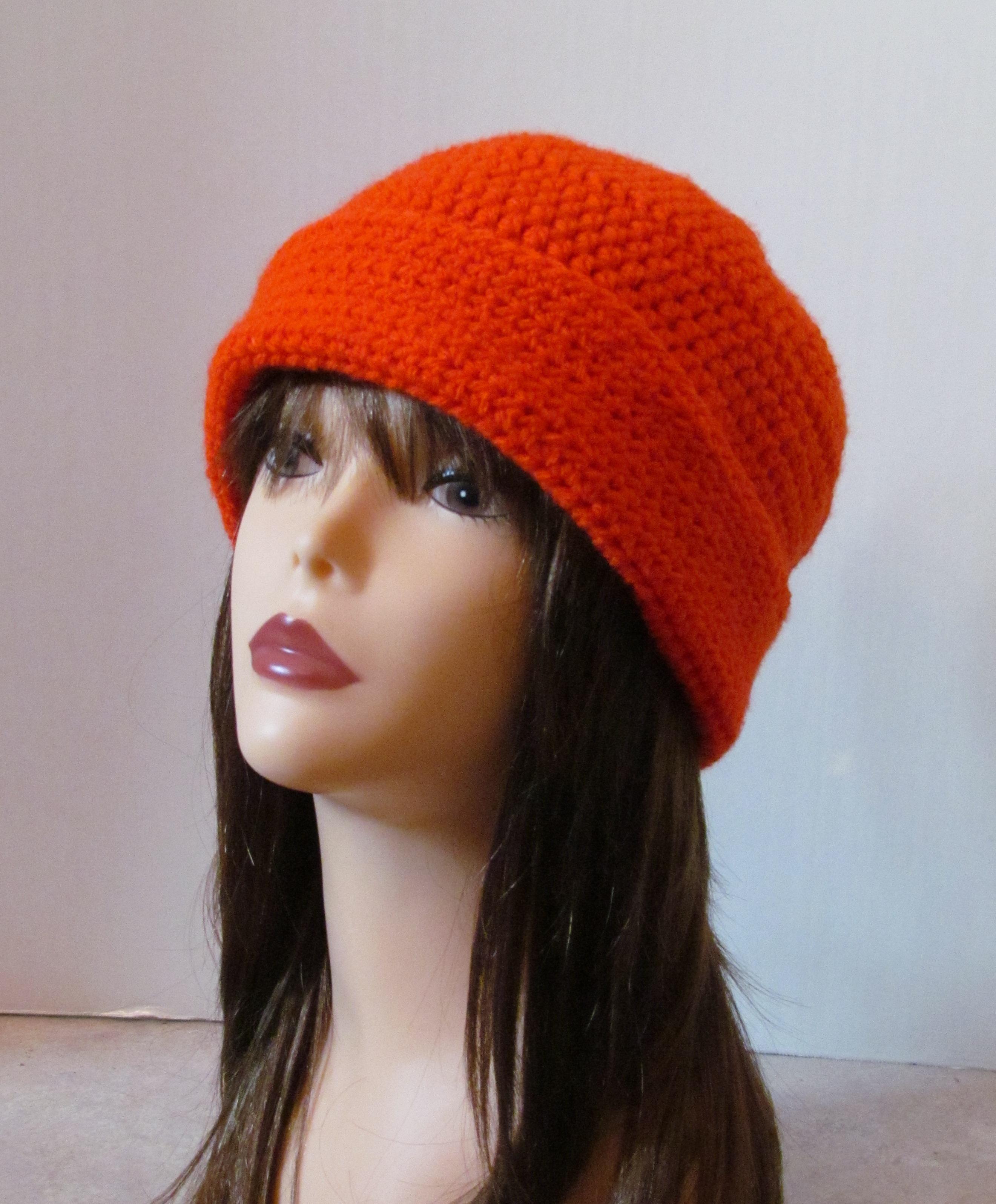 Blaze Orange Hunting Beanie Free Crochet Pattern - Ambassador Crochet 91143820dc1