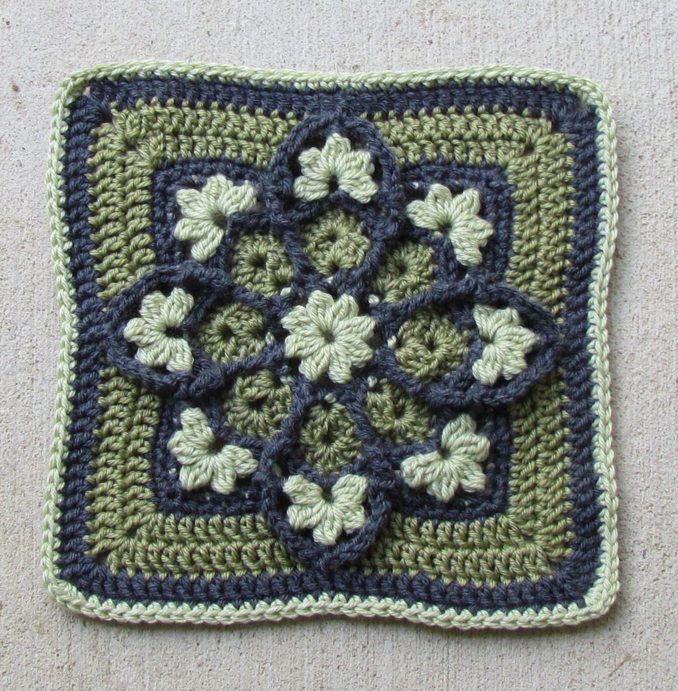 Beautiful Stained Glass Afghan Square - Ambassador Crochet