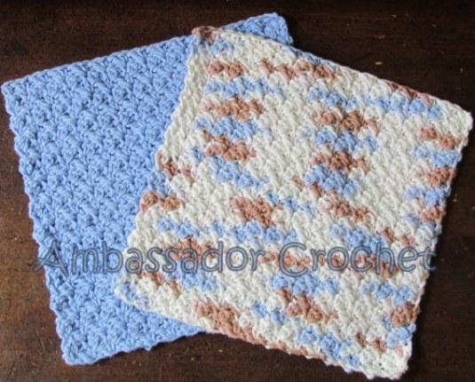 Grit Stitch Dishcloth V2 Free Crochet Pattern Ambassador Crochet