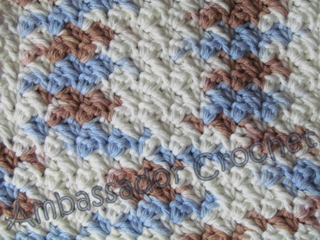Grit Stitch Dishcloth Pattern - Crocheted Grit Stitch Dishcloth Version 2 - free dishcloth pattern by Ambassador Crochet