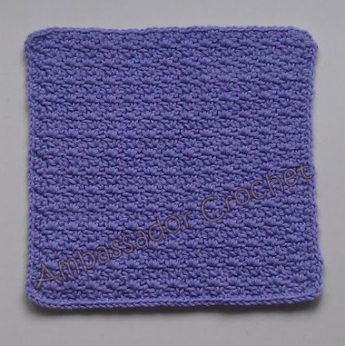Crochet Wattle Stitch Afghan Square