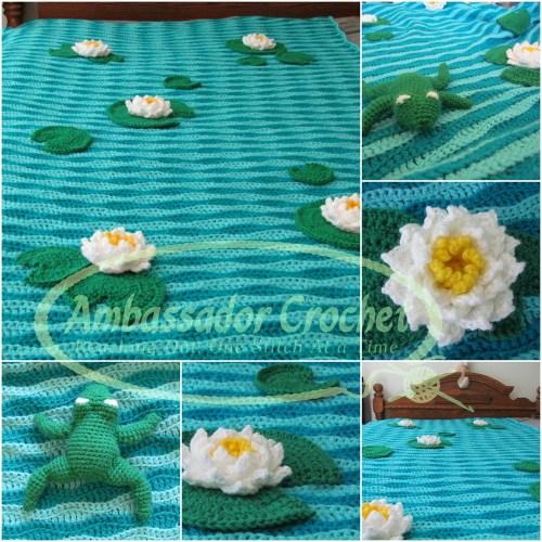Frog Pond Afghan crochet pattern by Ambassador Crochet.