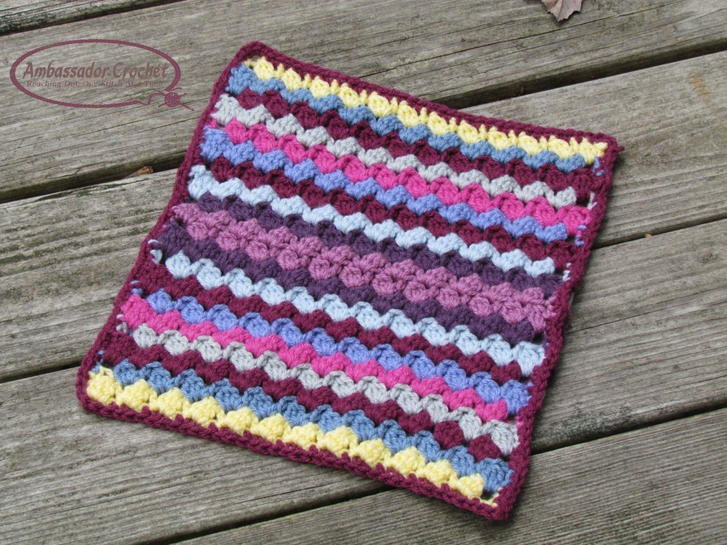 Colorburst Clusters Afghan Square