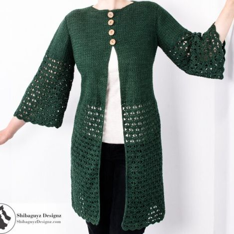 three quarter sleeve cardigan
