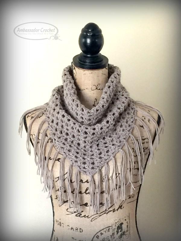 Fringe Cowl crochet pattern by Ambassador Crochet - $3.50