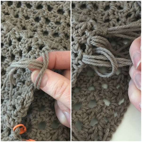 How to Add Fringe to Your Crochet Project - Step 4