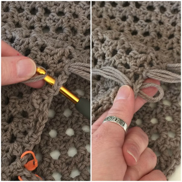 How to Add Fringe to Your Crochet Project - Step 3